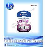 Chiavetta Pendriver Verbatim Nano  16GB USB 2.0 - CT-97464
