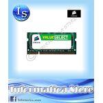 Memoria RAM 2GB DDR3 SODIMM CORSAIR CMSO2GX3M1A1333C - CT-CMSO2GX3M1A1333C9