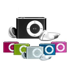 MINI LETTORE MP3 CON CAVO USB E CUFFIE CLIP FINO A 8 GB SD MUSICA JACK 3.5mm - CT-6389