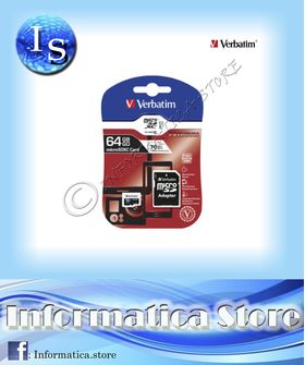 Memoria Micro SD Microsd 64 gb Verbatim SDXC Classe 10 - CT-44084